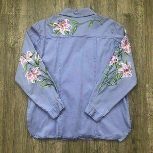 Bob Mackie Wearable Art Lillies Lavender Jacket